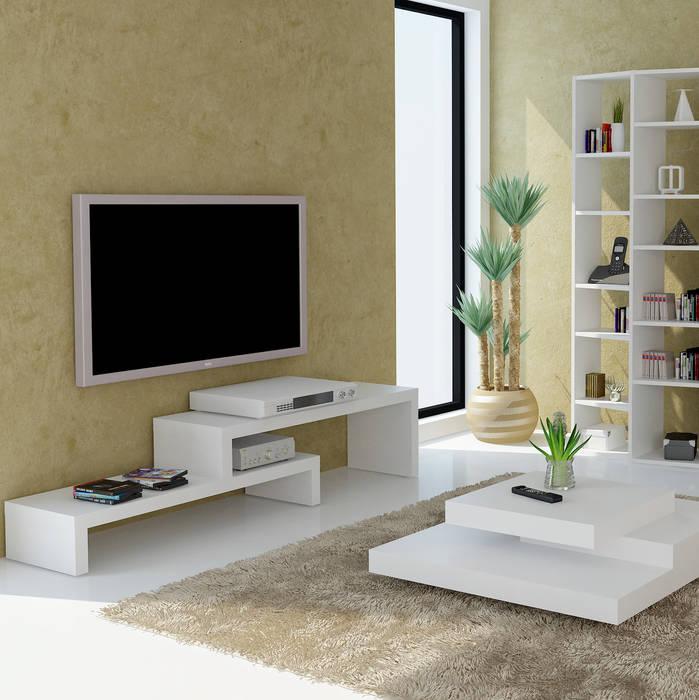 Meuble Cliff TAHANEA SalonMeubles télévision & multimédia Blanc