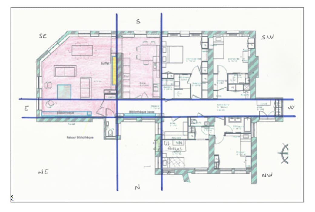Les énergies de l'appartement : Murs de style  par Myriem de Poncins