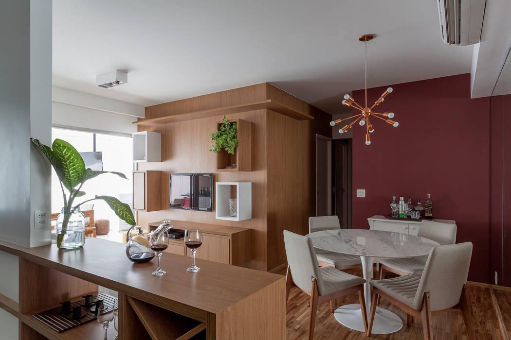 APARTAMENTO MICHIGAN Tria Arquitetura Salas de estar modernas