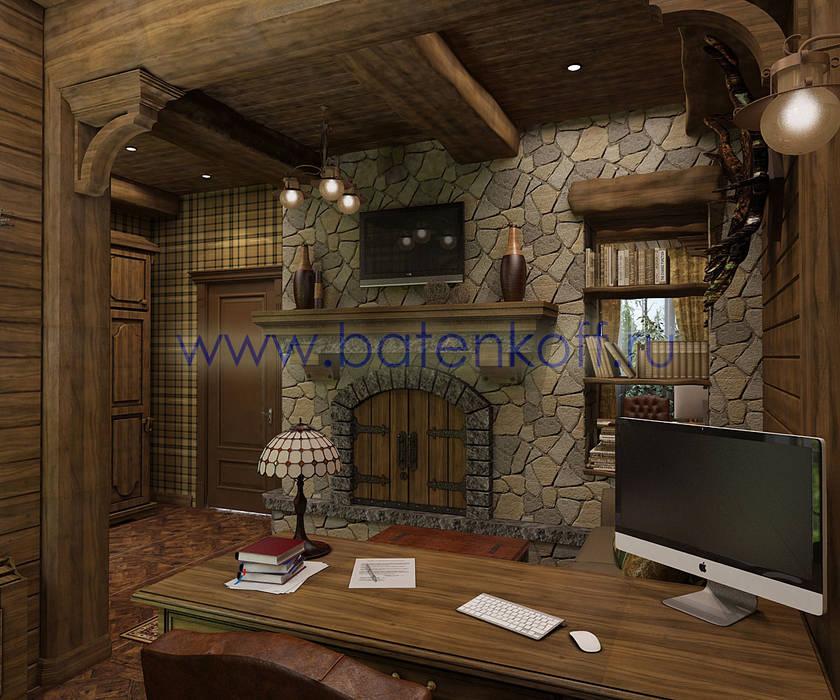 Oficinas y bibliotecas de estilo rural de homify Rural Madera Acabado en madera