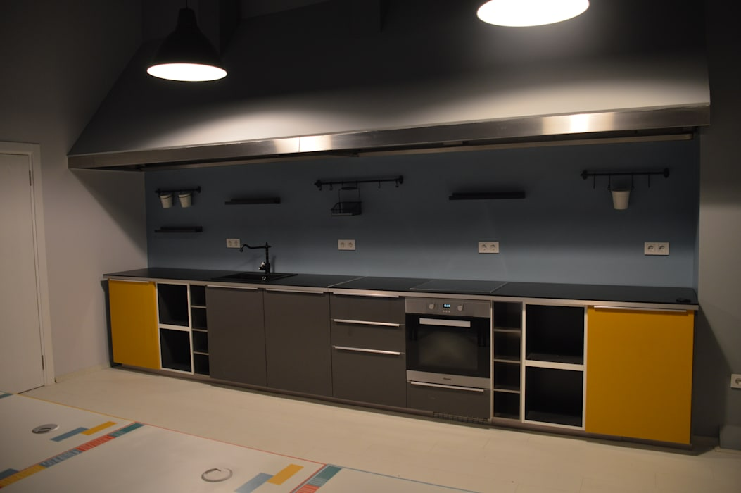 Mutfak - Toplantı odası bölümü Pil Tasarım Mimarlik + Peyzaj Mimarligi + Ic Mimarlik