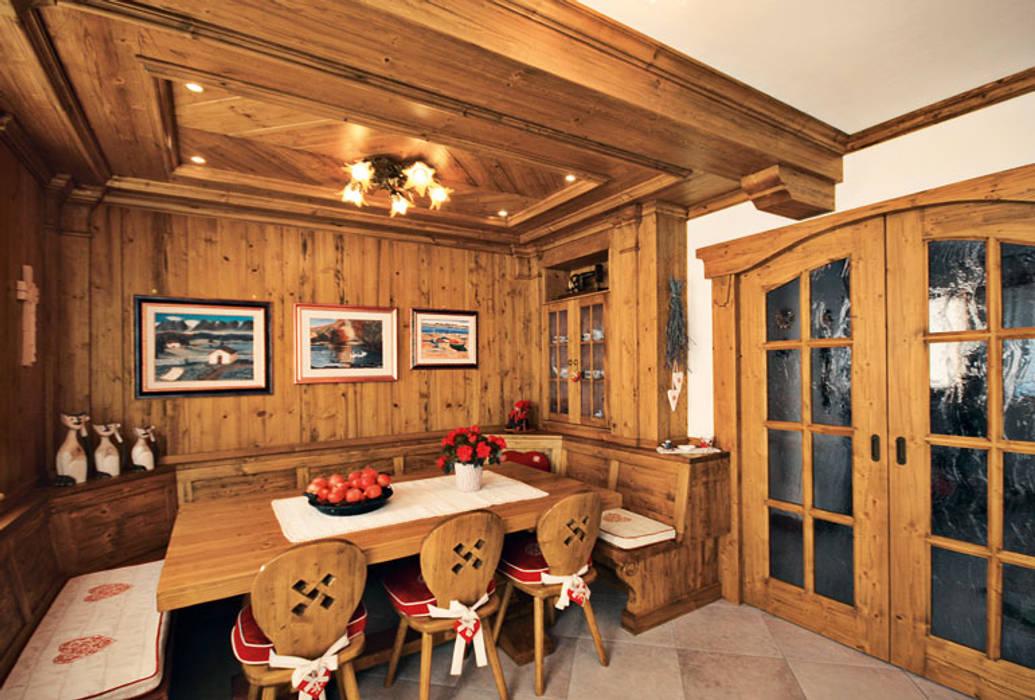 Sala Da Pranzo Rustica : Casa rustica raffinata sala da pranzo in stile di studio abacus