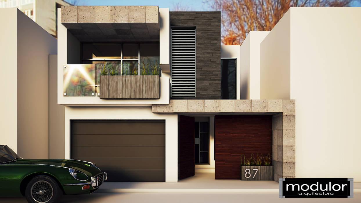 Casas modernas de Modulor Arquitectura Moderno Pizarra