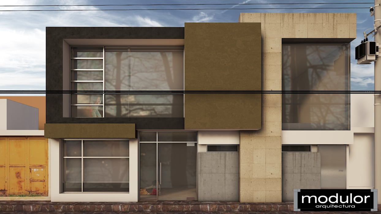 Salones de eventos de estilo moderno de Modulor Arquitectura Moderno Pizarra