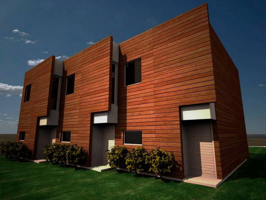 Opción en Madera:  de estilo  por AHA! Arquitectura
