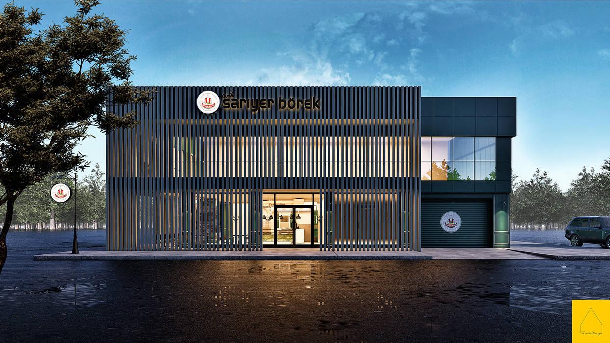 Penintdesign İç Mimarlık  – Sarıyer Börek Fabrika için Konsept:  tarz Yeme & İçme,