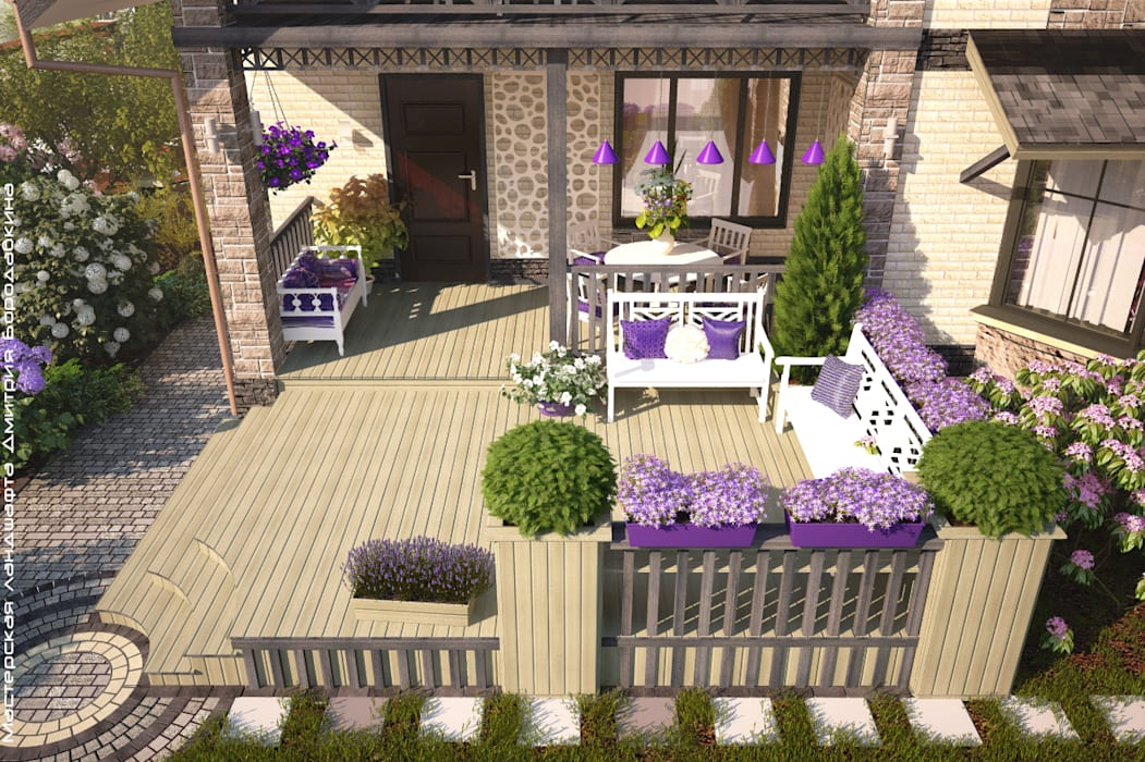 Scandinavian style garden by Мастерская ландшафта Дмитрия Бородавкина Scandinavian Wood Wood effect