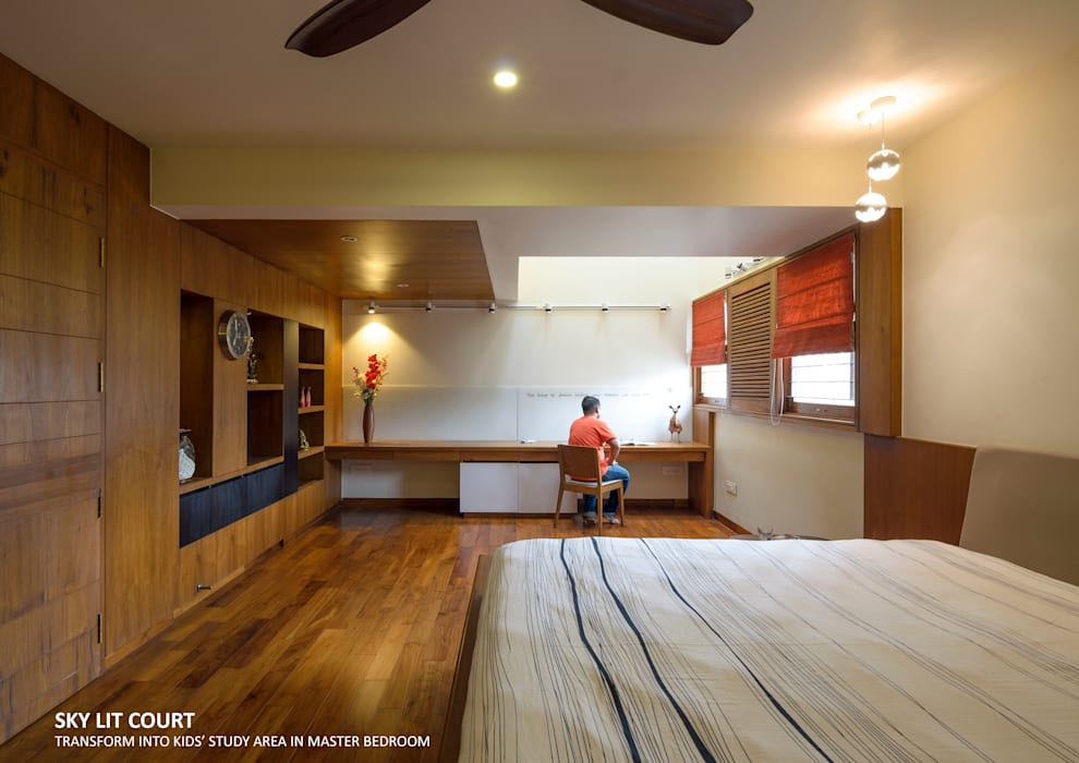Master Bedroom Asian style bedroom by 4site architects Asian Wood Wood effect