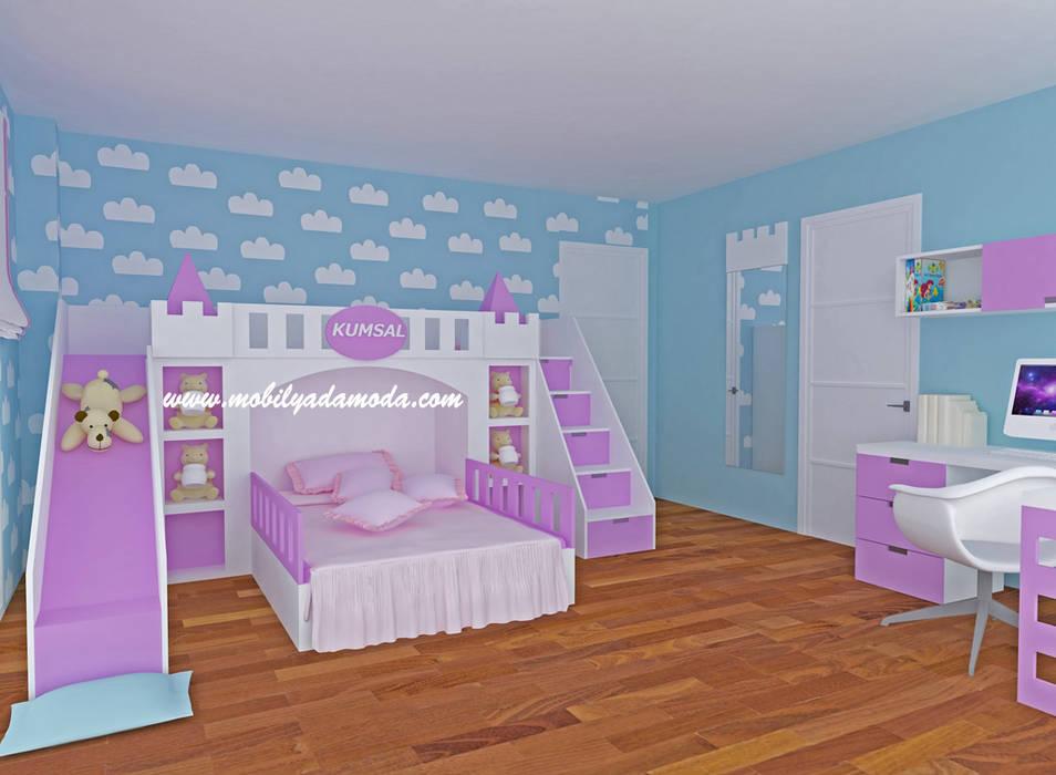 MOBİLYADA MODA  – Kumsal'ın Odası/Hatay/Şatolu Kaydıraklı Oda:  tarz Çocuk Odası,