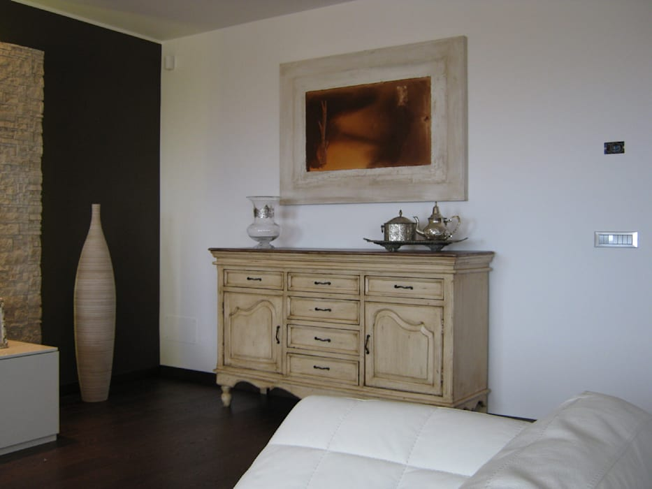 现代客厅設計點子、靈感 & 圖片 根據 Giuseppe Rappa & Angelo M. Castiglione 現代風 木頭 Wood effect