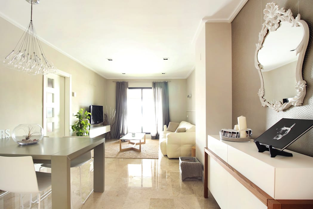 Living room Salones de estilo moderno de acertus Moderno