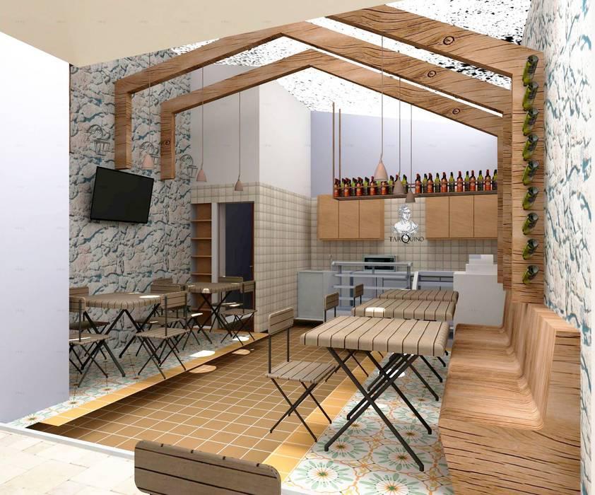 TARQUINO _ CAFÉ : Locales gastronómicos de estilo  por @tresarquitectos, Moderno