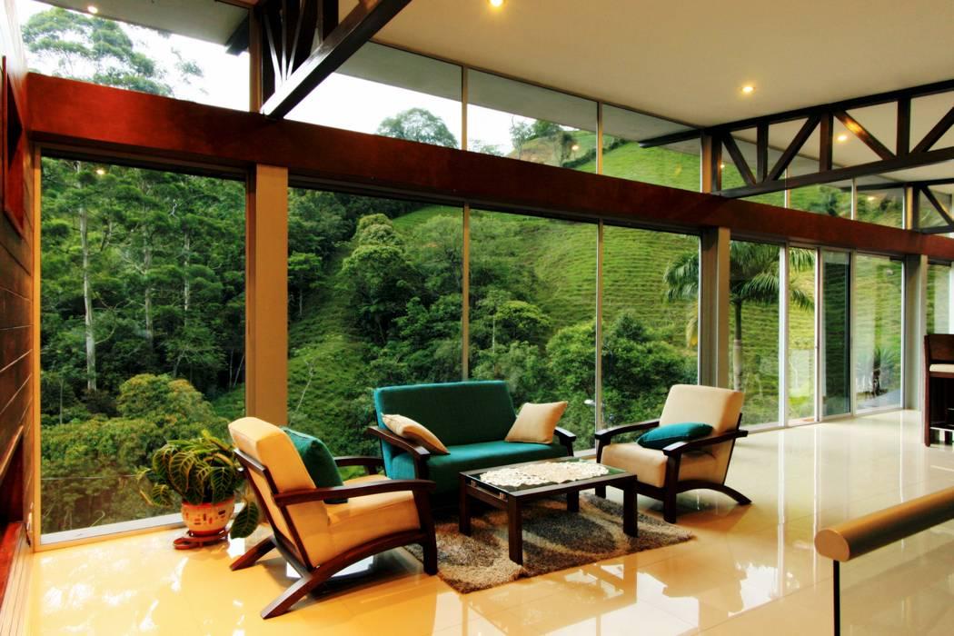 salon Livings de estilo moderno de Artek sas Moderno Vidrio