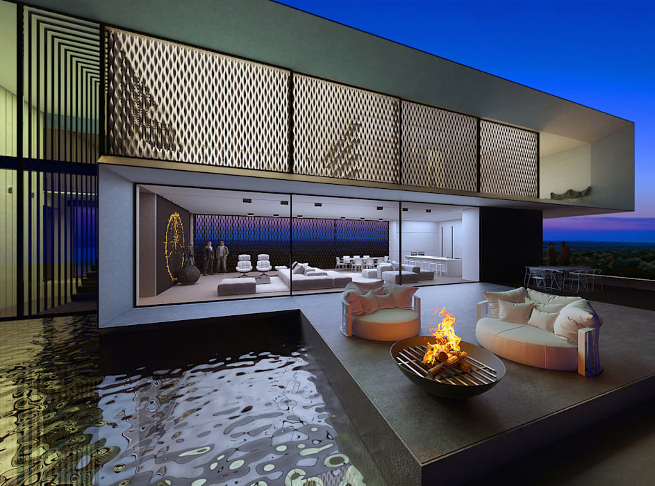 Casas por alexander zhidkov architect homify for Casa minimalista 300m2