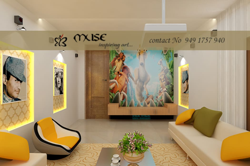 Residential pProjects:  Media room by Muse Interiors,