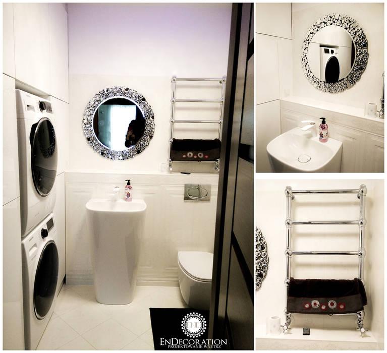 EnDecoration Modern bathroom Ceramic White