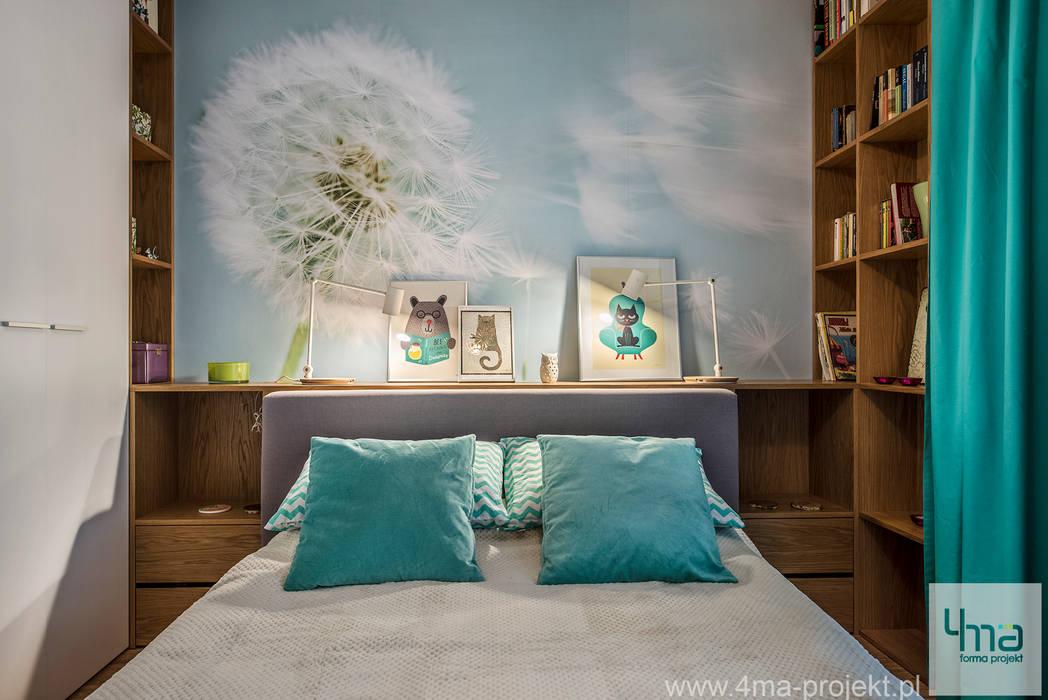 Projekt mieszkania o pow. 66 m2. Nowoczesna sypialnia od 4ma projekt Nowoczesny