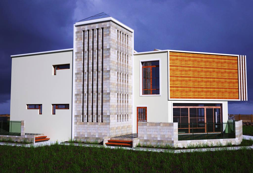H.E: Mimarlık – Ahmet Bey Edremit Villa Projesi:  tarz Evler,