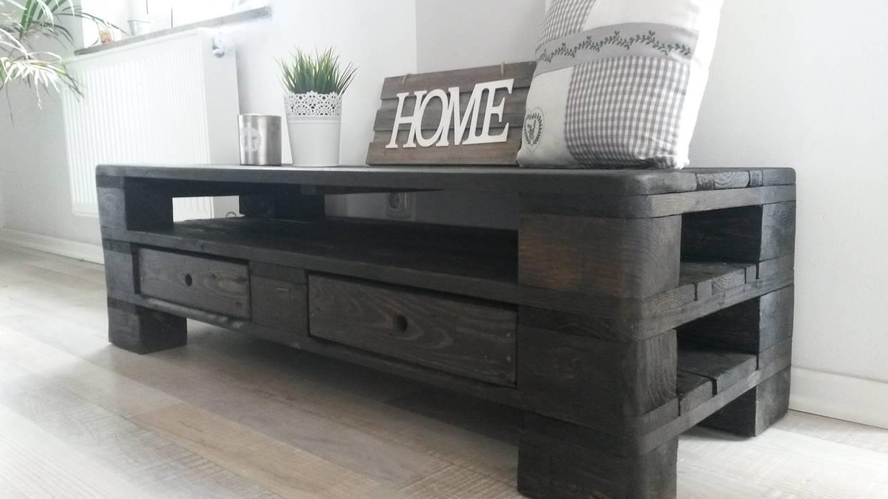 Paletten Couchtisch Tv Sideboard Wohnzimmer Von Palettenmobel Biz