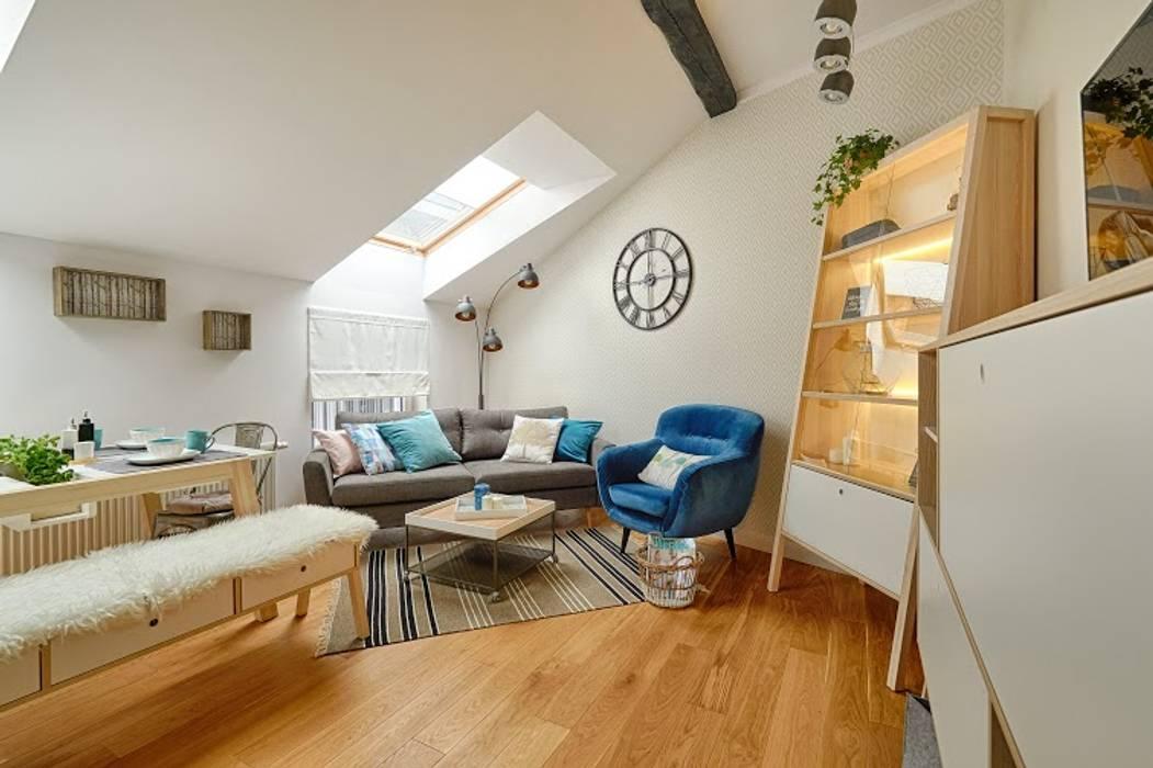 Living room by DreamHouse.info.pl, Scandinavian