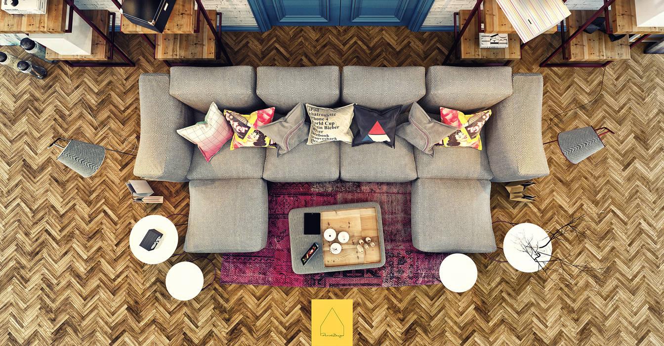 Penintdesign İç Mimarlık  – Living Room:  tarz Oturma Odası, Modern
