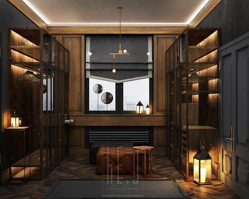 Classic style dressing room by he.d group Classic