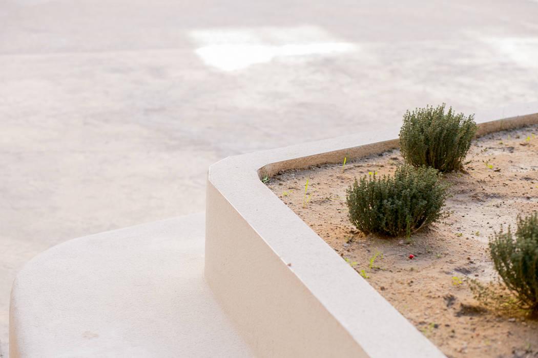 Detalle Jardineras Jardines de estilo moderno de Empresa constructora en Madrid Moderno Concreto
