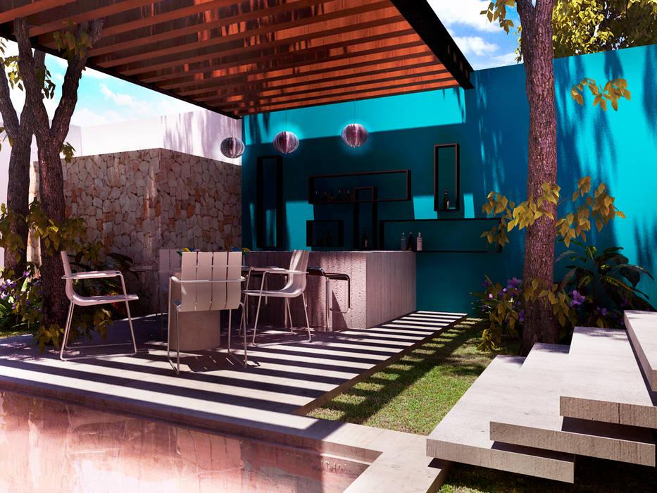 Terraza Bar Balcones Y Terrazas Modernos Ideas Imágenes Y