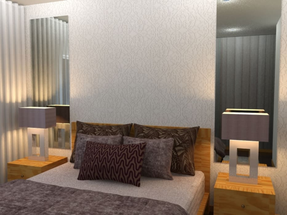 Kamar Tidur Modern Oleh Palma Interiores Modern