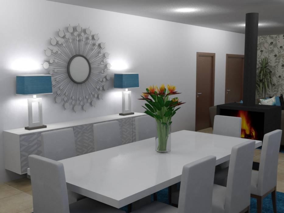 Ampliação de Habitação Unifamiliar: Salas de jantar  por Palma Interiores,