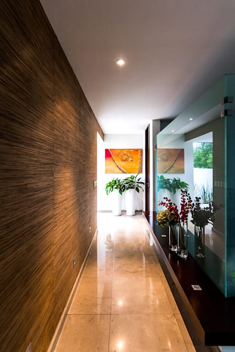 Modern Corridor, Hallway and Staircase by aaestudio Modern
