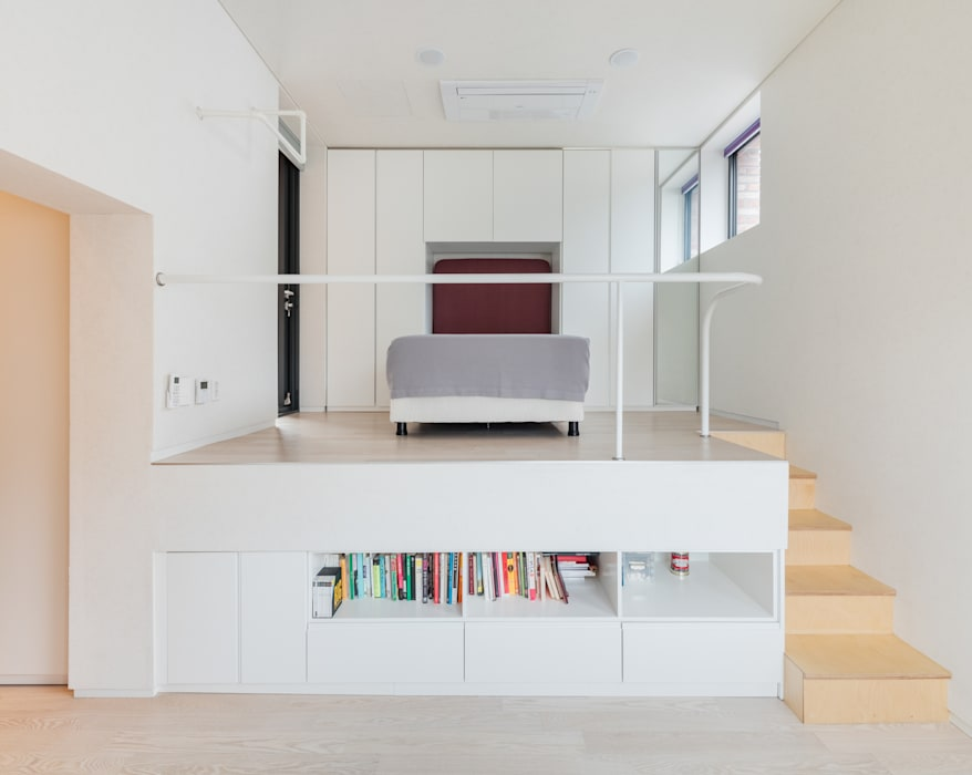 L house 모던스타일 복도, 현관 & 계단 by aandd architecture and design lab. 모던
