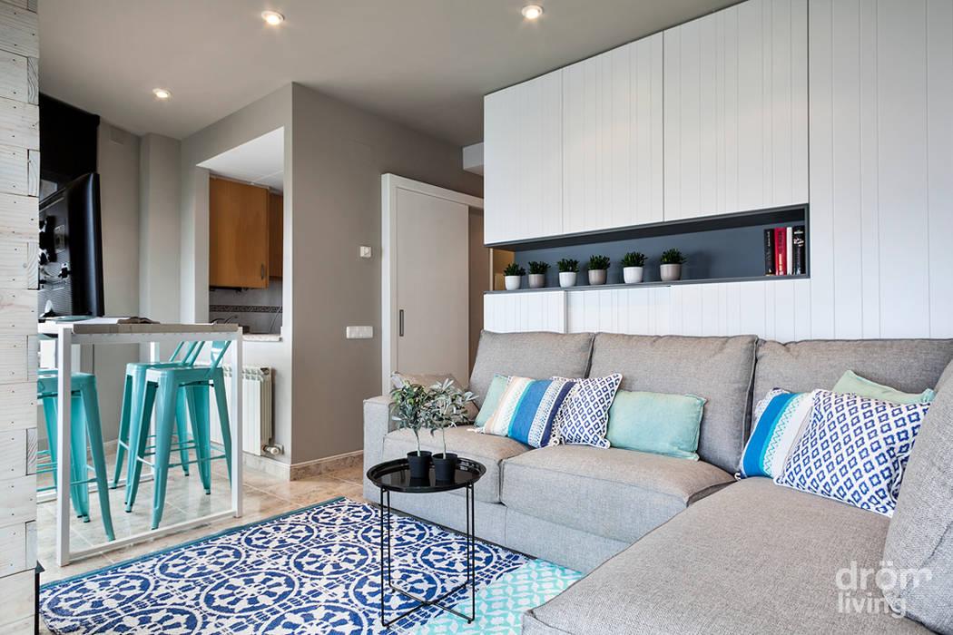 32 m2 mediterráneos Dröm Living SalonesSofás y sillones
