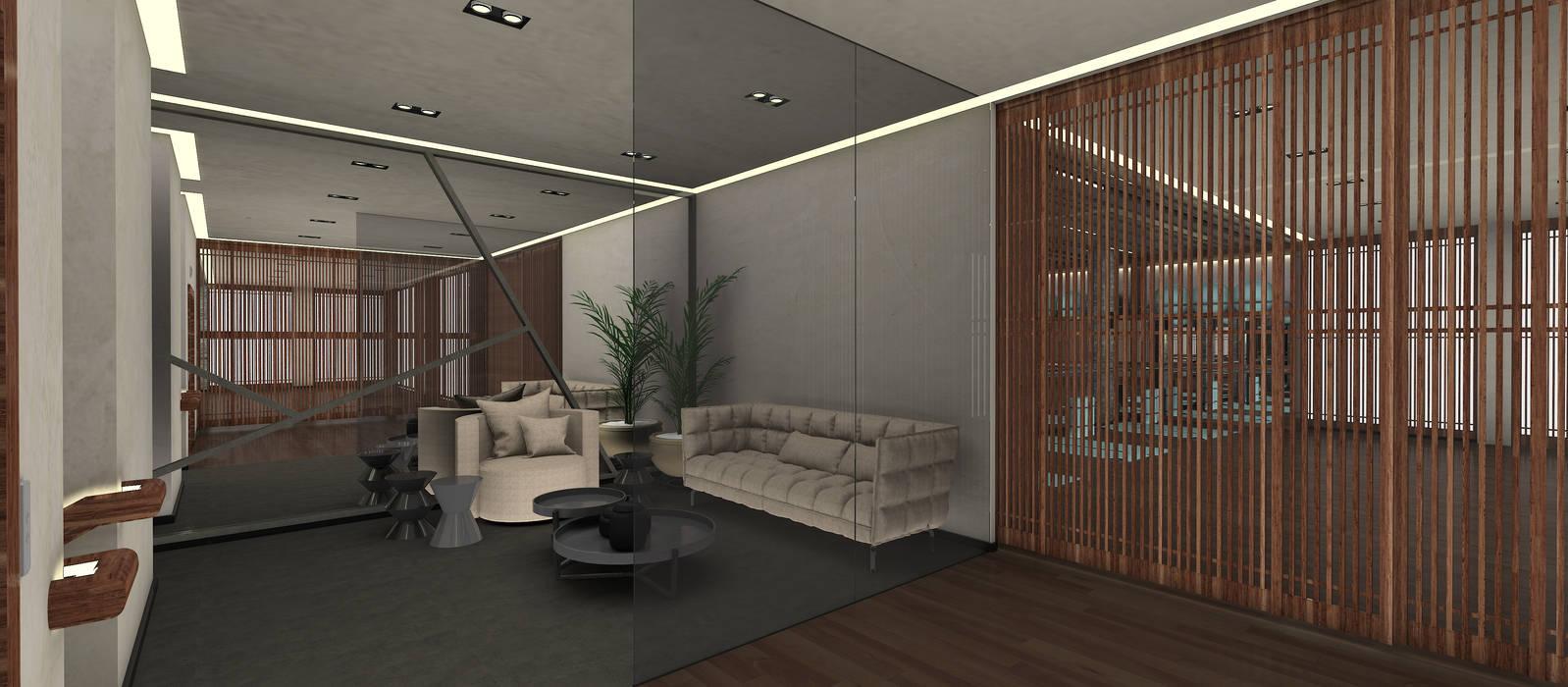 Gimnasios en casa de estilo  por Kerim Çarmıklı İç Mimarlık, Asiático