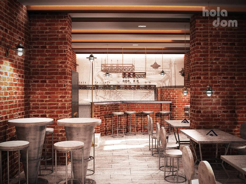 Projekt wnętrz baru Koszarka nad Narwią w Ploskach od HOLADOM Ewa Korolczuk Studio Architektury i Wnętrz Klasyczny