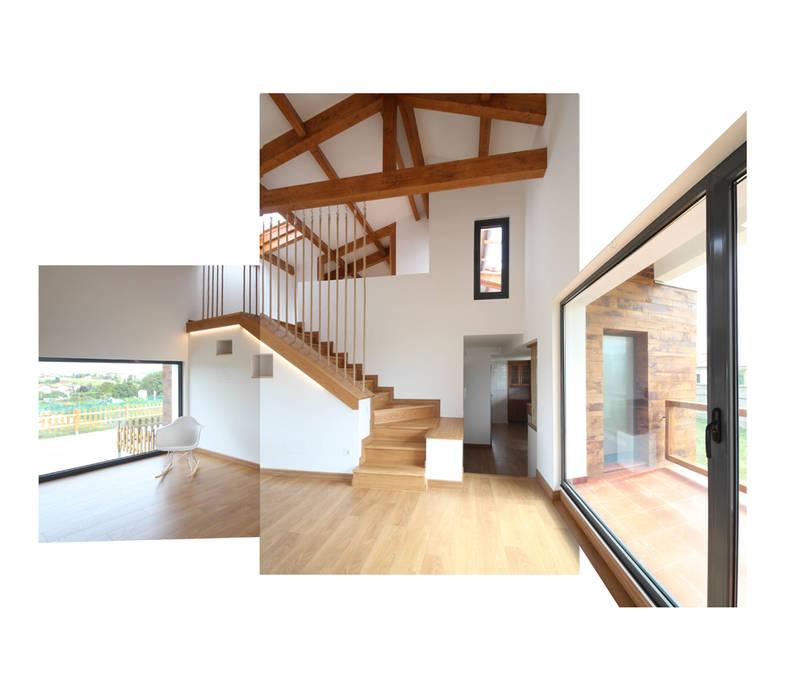 CASA BARBARA R. Borja Alvarez. Arquitecto Salones rústicos de estilo rústico