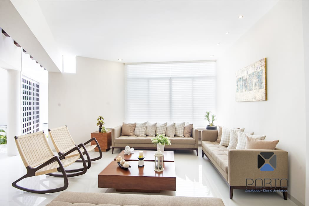Salas de estar  por PORTO Arquitectura + Diseño de Interiores, Eclético