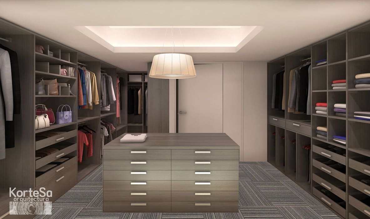 Eclectic style dressing room by KorteSa arquitectura Eclectic