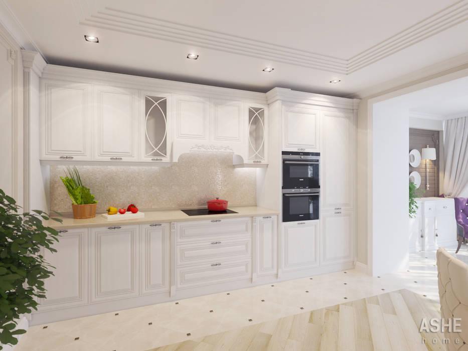 Квартира на ул. Менделеева в Уфе Студия авторского дизайна ASHE Home Кухня в классическом стиле