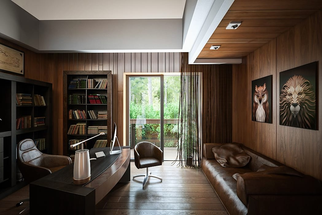 Bureau moderne par Design studio of Stanislav Orekhov. ARCHITECTURE / INTERIOR DESIGN / VISUALIZATION. Moderne