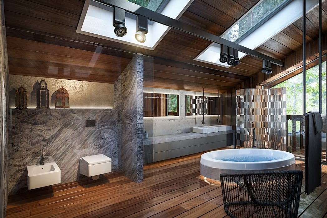 Salle de bain moderne par Design studio of Stanislav Orekhov. ARCHITECTURE / INTERIOR DESIGN / VISUALIZATION. Moderne