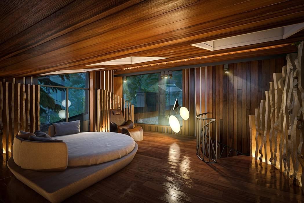 Salle multimédia moderne par Design studio of Stanislav Orekhov. ARCHITECTURE / INTERIOR DESIGN / VISUALIZATION. Moderne