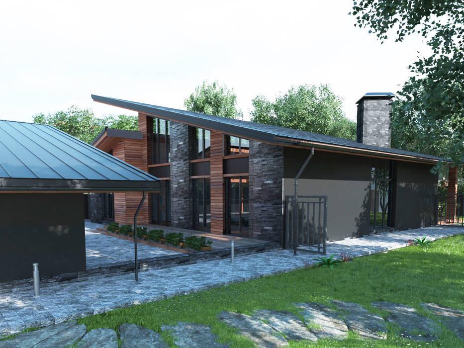 Проект загородного дома AnARCHI Дома в стиле минимализм