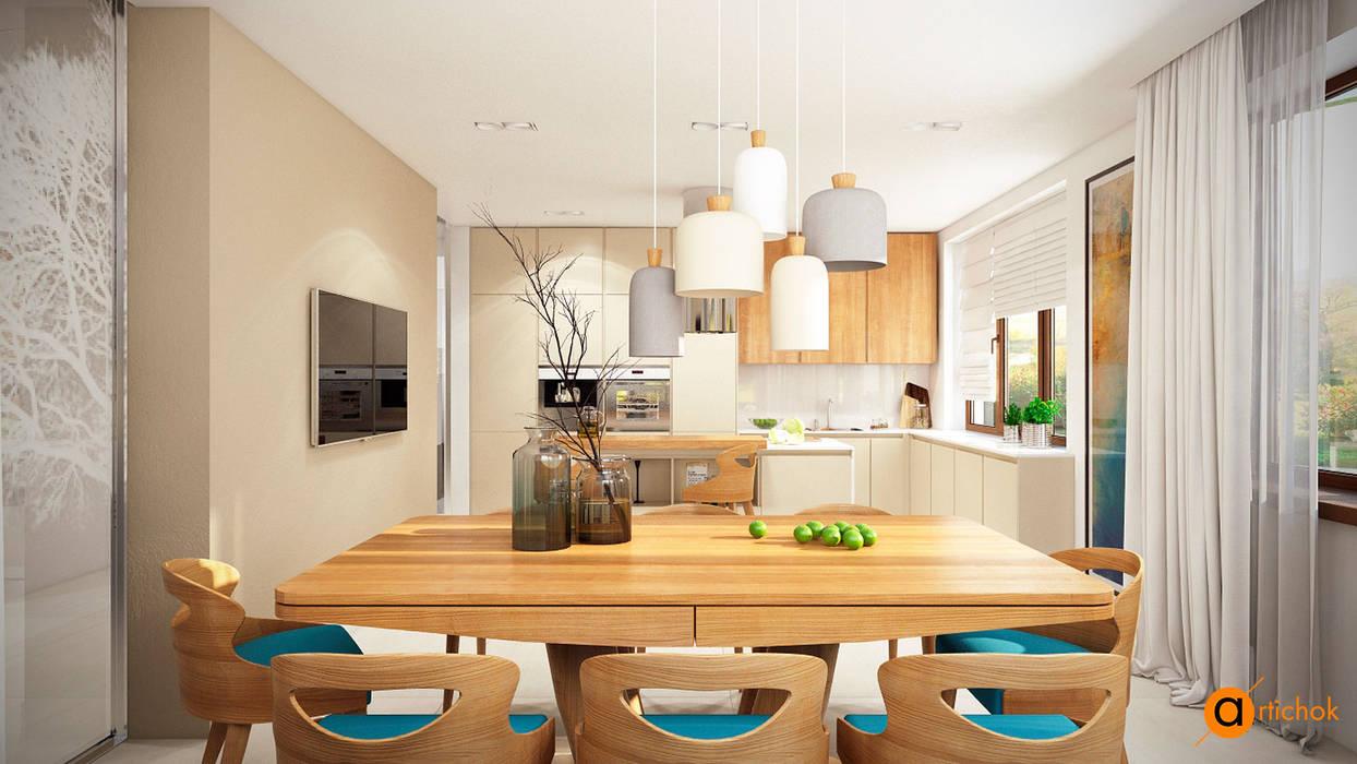 WHITE TREE kitchen Artichok Design Кухня в скандинавском стиле Белый
