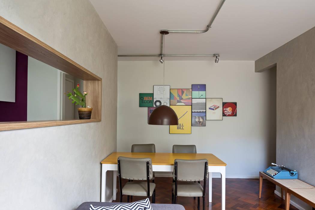 Apartamento FV: Salas de jantar  por BEP Arquitetos Associados,