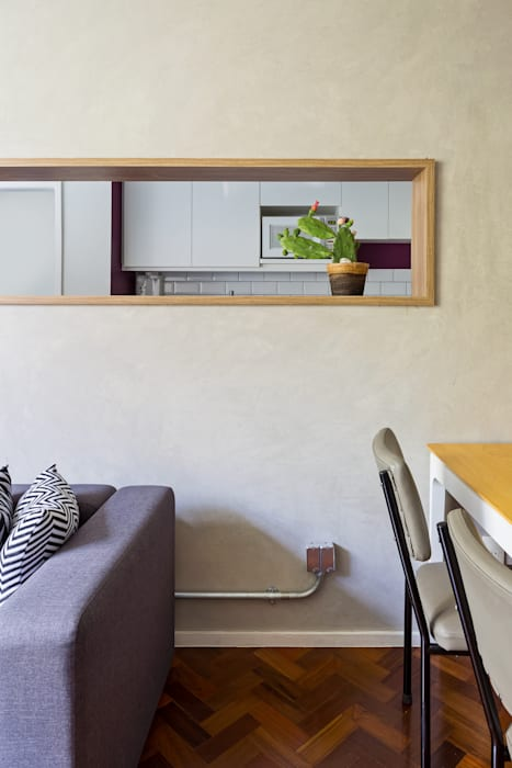 Apartamento FV: Salas de estar  por BEP Arquitetos Associados,Industrial