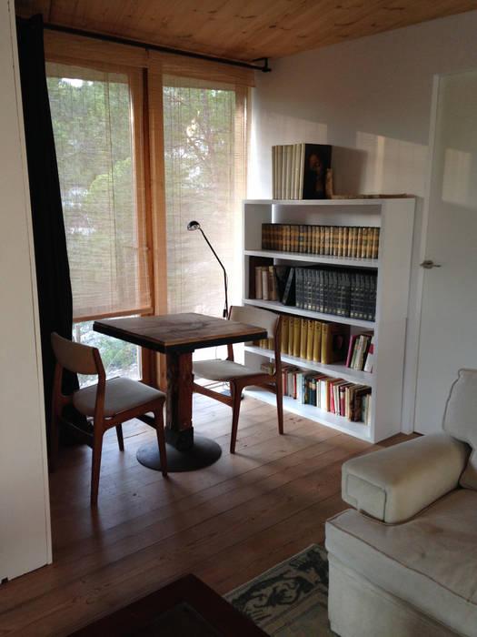 Mediterranean style study/office by ABCDEstudio Mediterranean Wood Wood effect