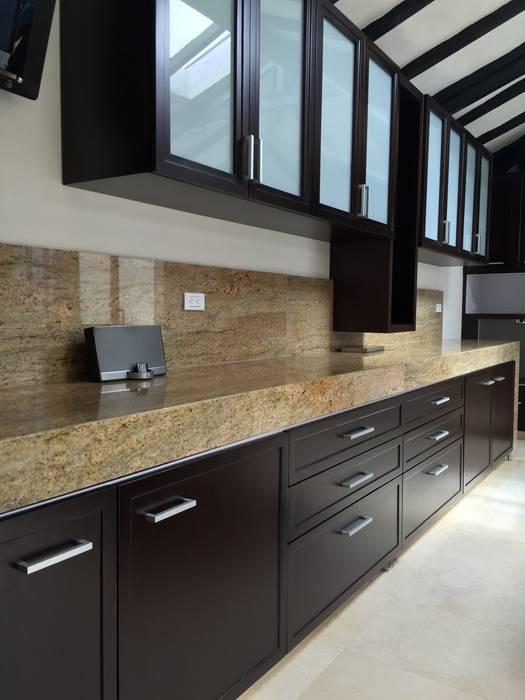 Meson Principal Cocina Cocinas modernas de LOPEZCAJIAO Moderno Madera Acabado en madera
