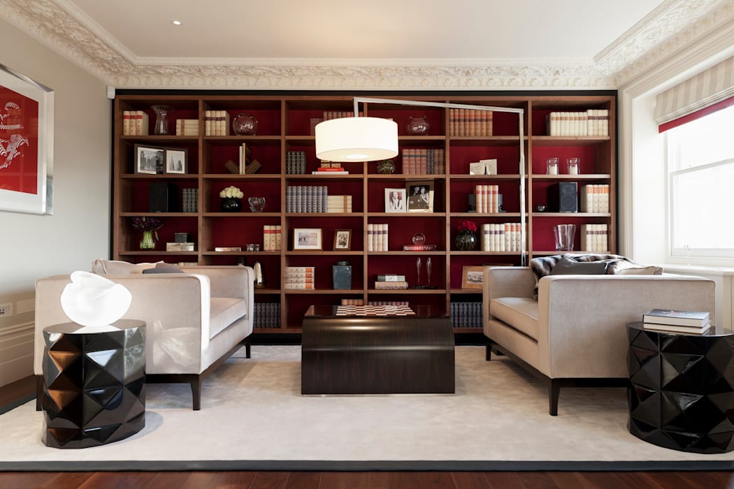 Lancasters Show Apartments - Living Room and Study LINLEY London Modern living room