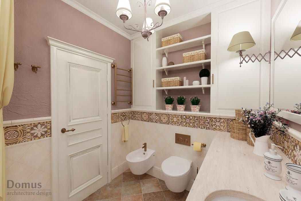 Bagno in stile in stile country di белый эскиз homify